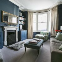 Farrow & Ball Stifkey Blue sitting room