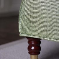 Bespoke green covered footstool