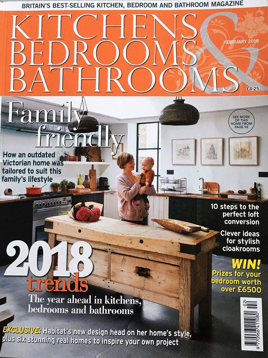 Kitchen Bedroom and Bathrooms Magazine Front Cover