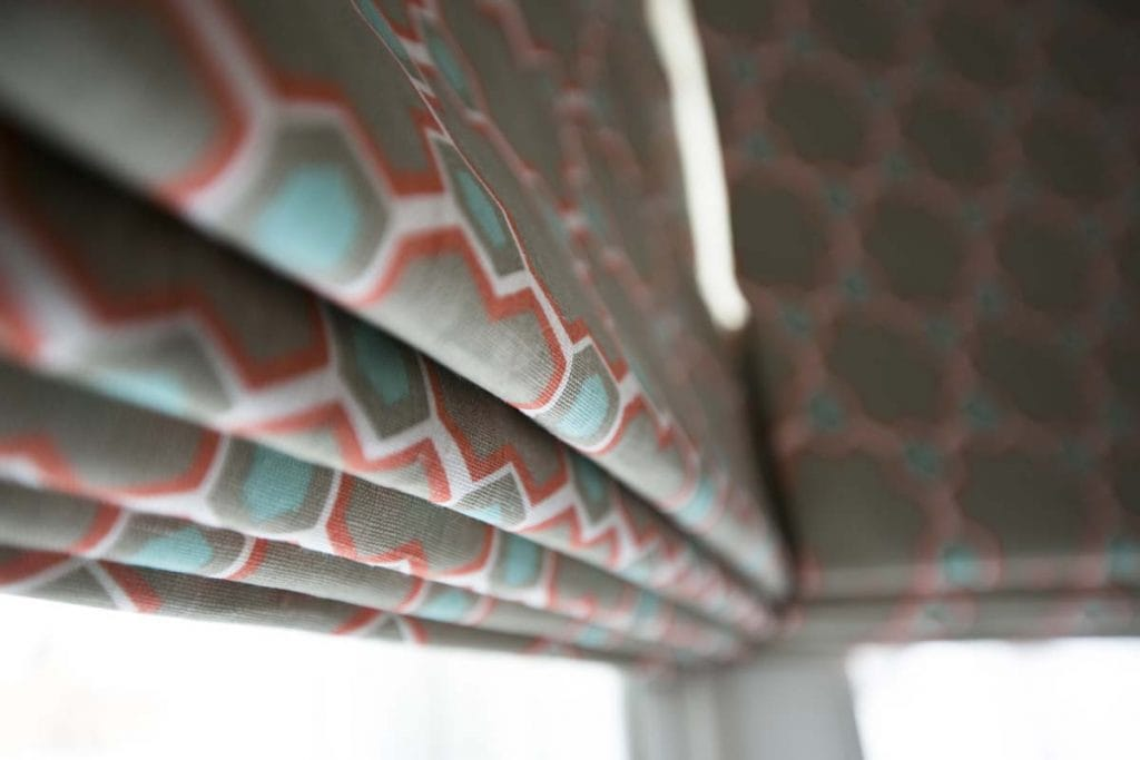 Vanderhurd orange and turquoise hexagonal blind