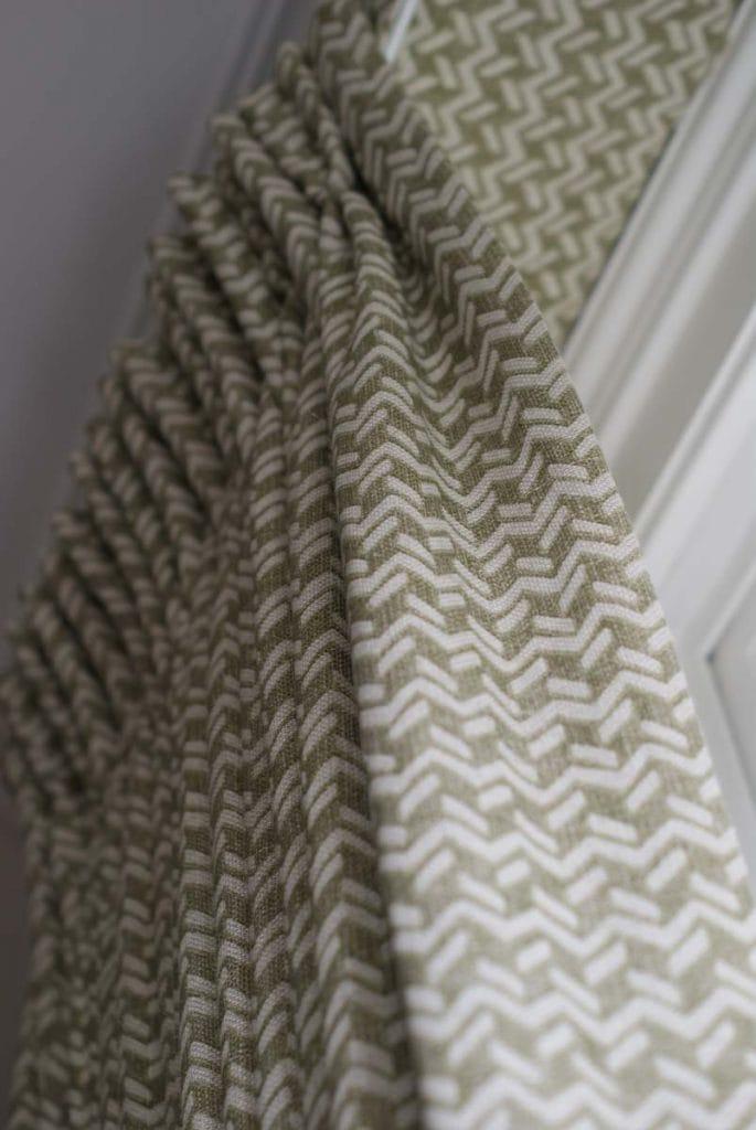 Fermoie green printed curtains