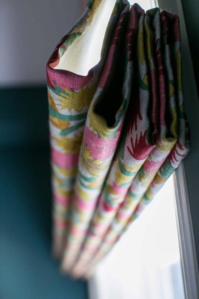 Christopher Farr Cactus fabric roman blind